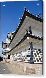 Japanese Castle Close-up Acrylic Print by David Hill