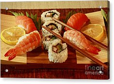 Japanese Cuisine Acrylic Print by Inspired Nature Photography Fine Art Photography