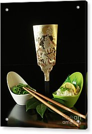 Japanese Fine Dining Acrylic Print by Inspired Nature Photography Fine Art Photography