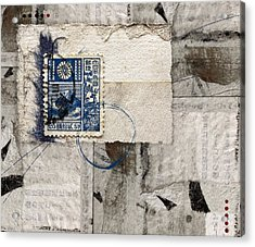 Japanese Postage 20 Sen Acrylic Print by Carol Leigh