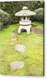 Japanese Stone Lantern Hamilton Gardens New Zealand Acrylic Print by Colin and Linda McKie