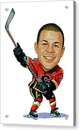 Jarome Iginla Acrylic Print by Art