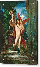 Jason And Eros Acrylic Print by Gustave Moreau