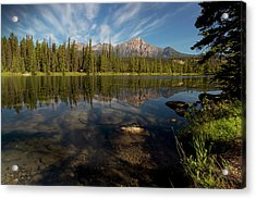 Jasper Park Lodge With Pyramid Mountain Acrylic Print by Justin Sinclair