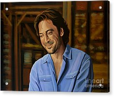 Javier Bardem Painting Acrylic Print by Paul Meijering