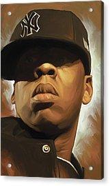 Jay-z Artwork Acrylic Print by Sheraz A