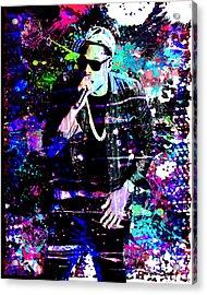 Jay Z Original Painting Art Print Acrylic Print by Ryan Rock Artist