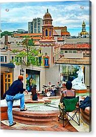 Jazz In The Plaza Acrylic Print by Nikolyn McDonald