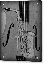 Jazz Is The Color Acrylic Print by Laurisa Borlovan