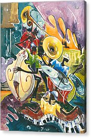 Jazz No. 4 Acrylic Print by Elisabeta Hermann