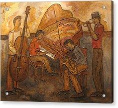 Jazz Quartet Acrylic Print by Anita Burgermeister