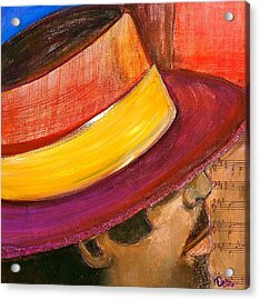 Jazzman Acrylic Print by Debi Starr