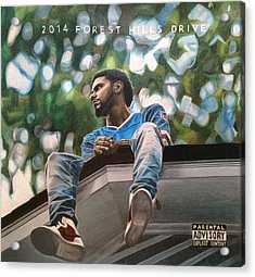 J.cole - 2014 Forest Hills Drive Drawing Acrylic Print by Angelee Borrero