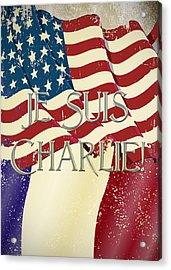 Je Suis Charlie Acrylic Print by Paulette B Wright