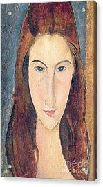 Jeanne Hebuterne Acrylic Print by Amedeo Modigliani