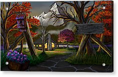 Jeans Cabin Welcome Acrylic Print by Brien Miller