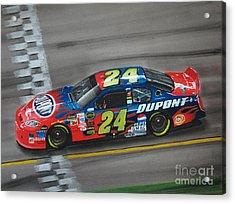 Jeff Gordon Dupont Chevrolet Acrylic Print by Paul Kuras