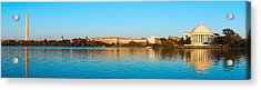 Jefferson Memorial And Washington Acrylic Print by Panoramic Images
