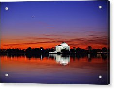 Jefferson Memorial At Dawn Acrylic Print by Metro DC Photography