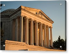 Jefferson Memorial Sunset Acrylic Print by Steve Gadomski