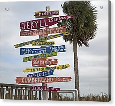 Jekyll Island Where To Go Acrylic Print by Betsy Knapp