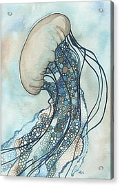 Jellyfish Two Acrylic Print by Tamara Phillips
