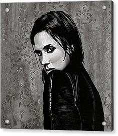 Jennifer Connelly Acrylic Print by Paul Meijering