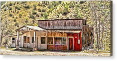 Jerome Arizona - General Store Acrylic Print by Gregory Dyer