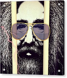 Jerry Garcia Can See You ... Grateful Dead Acrylic Print by Patricia Januszkiewicz