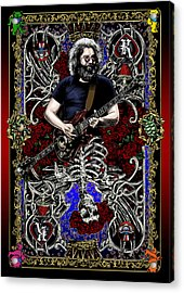 Jerry Card Acrylic Print by Gary Kroman