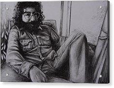 Jerry Garcia In '72   Acrylic Print by Leandria Goodman