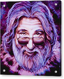 Jerry Garcia Acrylic Print by Mike Underwood