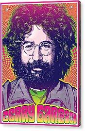 Jerry Garcia Pop Art Acrylic Print by Jim Zahniser