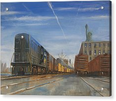 Jersey Central Lines Acrylic Print by Christopher Jenkins