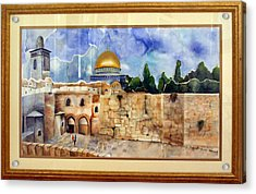 Jerusalem Cradle Of Civilization Acrylic Print by Rachel Alhadeff