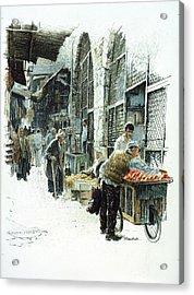 Jerusalem Street Acrylic Print by Graham Braddock