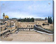 Jerusalem The Western Wall Acrylic Print by Ron Shoshani