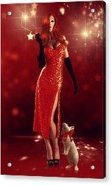 Jessica Rabbit Acrylic Print by Cindy Grundsten