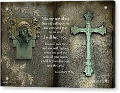 Jesus And Cross - Inspirational - Bible Scripture Acrylic Print by Kathy Fornal