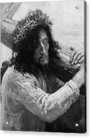 Jesus Carrying The Cross Circa 1898  Acrylic Print by Aged Pixel