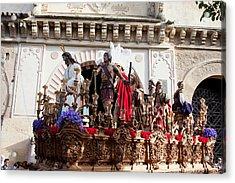 Jesus Christ And Roman Soldiers On Procession Acrylic Print by Artur Bogacki