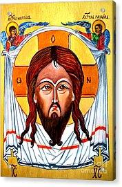 Jesus Christ Mandylion Icon Acrylic Print by Ryszard Sleczka