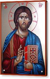 Jesus Christ Our Savior Acrylic Print by Gianfranco Weiss