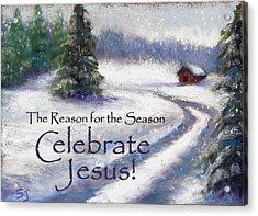 Jesus Christmas Acrylic Print by Susan Jenkins
