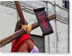 Jesus Died For Us IIi Acrylic Print by Al Bourassa