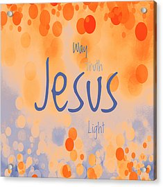 Jesus Light 2 Acrylic Print by Angelina Vick