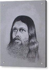 Jesus Looking To Heaven Acrylic Print by Kathy Weidner