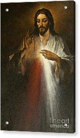 Jesus Of Divine Mercy Acrylic Print by Dan Radi