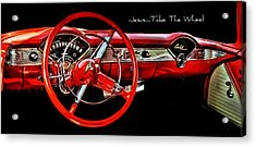 Jesus Take The Wheel Acrylic Print by Victor Montgomery