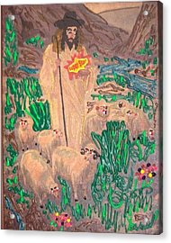 Jesus The Celebrity Acrylic Print by Lisa Piper Menkin Stegeman